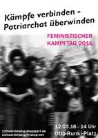 [12. März 2016, Leipzig] Solidarität mit allen emanzipatorischen Kämpfen weltweit! Auf zur feministischen Revolution!
