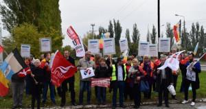 Proteste gegen den antigewerkschaftlichen Kurs von Smurfit Kappa (nicht nur) in Polen gibt es schon lange - hier im Oktober 2015