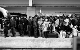 Not welcome: Flüchtlinge auf dem Wiener Bahnhof im März 2016