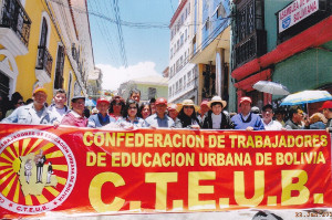 Demo zum Kongress bolivianischer Lehrergewerkschaften 18.3.2016