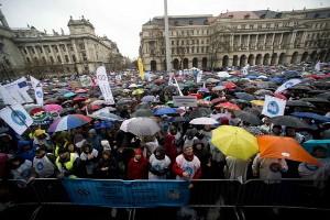 Lehrerdemo Budapest 15.3.2016
