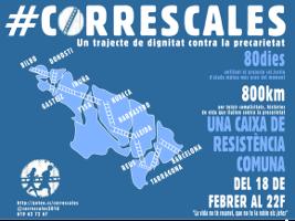 Plakat zu spanischem Prekärmarsch im Februar 2016