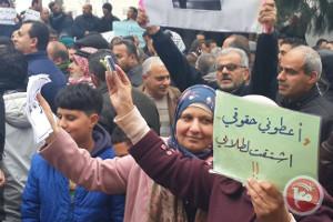 Streikende LehrerInnen in Ramallah am 4.3.2016