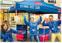 """""""Stark mit ver.di"""" - Logo zum Stellenangebot von und bei DFC Dialog GmbH – Dortmund"""