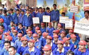 Hungerstreik bei Tata - in der Marco Polo Anlage: Auch hier am 1.3.2016 wegen Entlassung von Gewerkschaftern