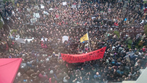 Studentendemo Tiflis am 14.3.2016