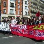 #NuitDebout: Demo-Szenen. Hier vom 05. April in Paris (Foto: Bernard Schmid)