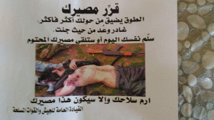 Am 8. März wurden Flugblätter in Altınözü angeweht, die die syrische Armee auf syrischer Seite in von Dschihadisten kontrollierten Gebieten abgeworfen hatte (Foto: Firedensratschlag Hatay)