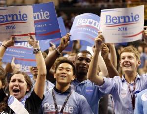 Wahlkundgebung San Francisco im Januar 2016 - die Sanders Kandidatur mobilisiert die Jugend