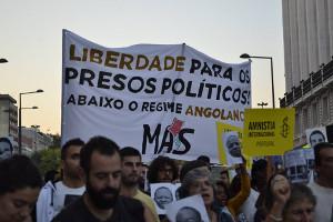 Solidemo gegen Urteile in Angola - Lissabon 1.4.2016