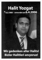 Halit Yozgat - geboren am 6. Februar 1985, ermordet am 6. April 2006