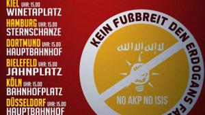 Kein Fußbreit den Faschisten. No AKP - NO ISIS