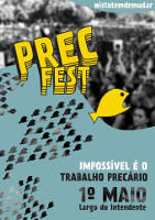 Portugal: Plakat zum PrecFest in Lissabon am 1.5.2016