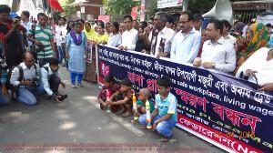 Rana Plaza 3 Jahresdemo in Bangladesch - mit Waisenkindern qm 24.4.2016