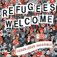 CD-Cover: Refugges welcome - gegen jeden Rassismus