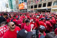 Verizon-Streikdemo in New York am 18.4.2016