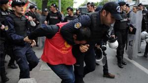 Polizeiüberfall in Istanbul am 1. Mai 2016