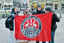 IWW Aktion in Frankfurt