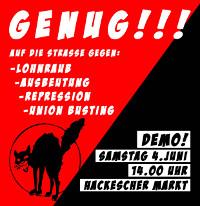 [Berlin] Am 4. Juni: Gewerkschaftsfreiheit statt Klassenjustiz!