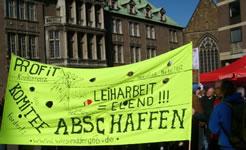 Der GHB soll durch eine Anzahl wechselnder Leiharbeitsbuden ersetzt werden - Protest