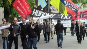 Maidemonstration 2016 in Dnjepetrpetrowsk- die unabhängigen Gewerkschaften in der Ukraine setzen Zeichen gegen Oligarchen