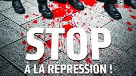 """Frankreichs umkämpfte Arbeitsrechts-""""Reform"""" (Nuit debout): CGT-Plakat über Polizeigewalt"""