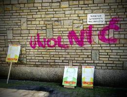 Plakate gegen zwangsräumung in Poznan, Mai 2016