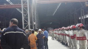 Polizei in Alexandria überfällt streikende Arbeiter auf der Werft - am 20. Mai 2016