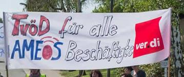 Streik beim Ameos-Klinikum in Osnabrück am 24.05.2016, Foto ver.di Weser-Ems