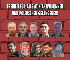 Freiheit für alle ATIK AktivistInnen und politischen Gefangenen! (Juni 2016)