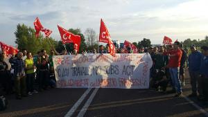 Solidaritätsstreik mit Frankreich im Logistikzentrum Bologna am 14.6.2016