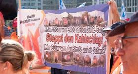 EVG zu DB Cargo: Massiver Protest gegen geplanten Stellenabbau