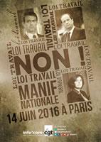 """Plakat der CGT zu den Protesten gegen die Arbeitsrechts-""""Reform"""" in Frankreich am 14.6.2016"""