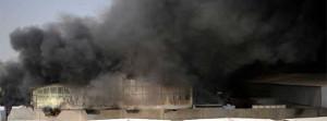 Eines der Feuer in Arbeitslagern in Katar 2016 - bisher 4