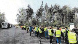 Kampf um Tarifvertrag im Sägewerk Klenk in Baruth