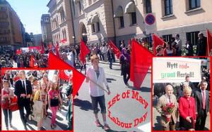Gewerkschaftsdemonstration Oslo am 1. Mai 2016