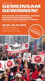 Konferenz «Erneuerung durch Streik III» am 30.09.-02.10.16