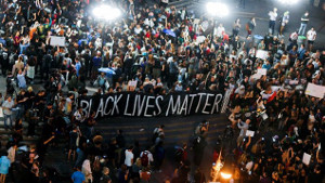 Protestdemonstration in New York am 10.7.2016: Black lives matter