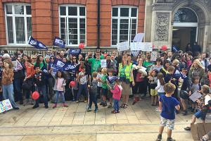 Lehrerstreik in London am 5.7.2016