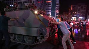 Versuchter Militärputsch in der Türkei: gescheitert. Hier: Ankara, 16. Juli 2016