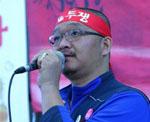 Der Vorsitzende des südkoreanischen Gewerkschaftsbundes KCTU, Han Sang-gyun, soll am 4.7.2016 zu 8 Jahren gefängnis verurteilt werden - weil er zu einer Demonstration aufrief