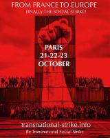 [Paris, 21.-23. Oktober] Von Frankreich nach Europa. Endlich der soziale Streik! Einladung zum Treffen der Transnational Social Strike Plattform