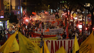 Demonstration 16.8.2016 in Belo Horizonte gegen neue Arbeitsgesetze in Brasilien