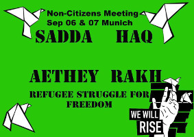 Refugee Struggle for Freedom: Non-Citizens Treffen am 6. und 7. September 2016 in München