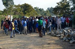 Demonstration in Addis Abeba am 8.82016