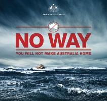 Australisches Abschreckungsplakat
