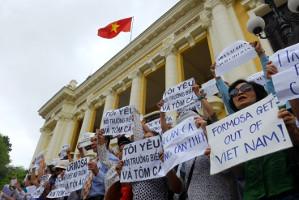 Protest gegen Fischsterben in Hanoi im Mai 2016