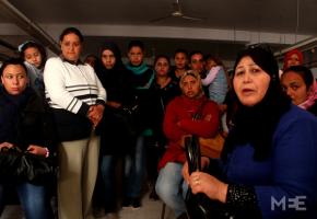 Die Belegschaft von Marmotex Tunesien beim Übernahmebeschluss im März 2016