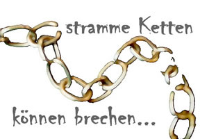 Just-in-Time-Produktion: Stramme Ketten können brechen... Fotomontage: LabourNet Germany