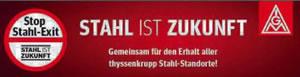 Thyssen-Krupp: Betriebsräte protestieren gegen Stahlfusion - Aktionstag am 31. August 2016 in Duisburg